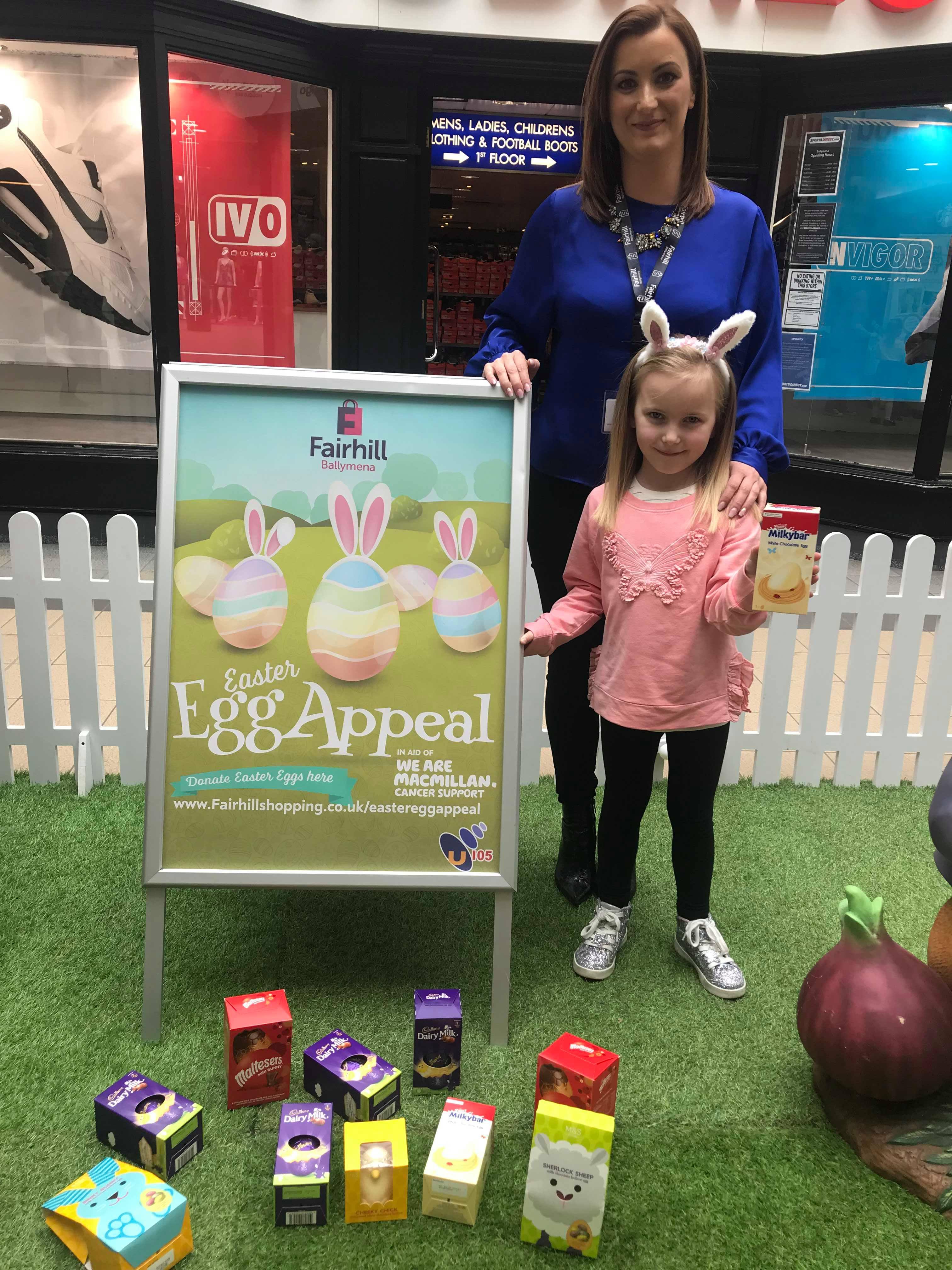 Natalie Jackson with daughter Ella Easter Egg Appeal